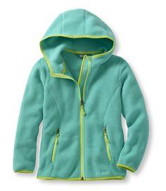 Girls' Trail Model Fleece Jacket, Hooded, Emerald Size 4