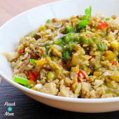 By now you'll probably know that Chinese used to be a firm favourite of ours, pre Slimming World days. But, as is the way with most things that we enjoyed, it's not very Slimming World friendly. So we decided to make our own version. Here's our Syn Free Fakeaway Fried Rice recipe. We do have…