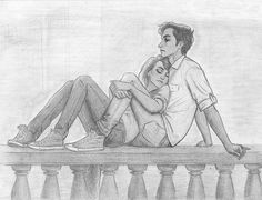 cute sketch of couple