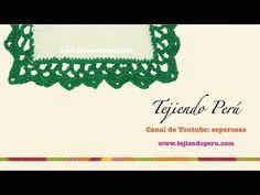 Borde o puntila con picos para tejer a crochet - YouTube