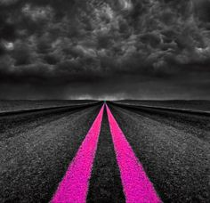On the pink highway! Color Splash ~ by Ladee Pink