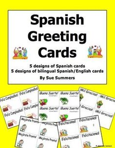 Spanish greetings and basics 10 sentence corrections and spanish greeting cards spanish and english bilingual greeting cards by sue summers get ready m4hsunfo Choice Image
