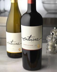 Entwine Wine Food Network Wine Label & Package Design California
