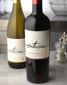 Entwine Wine Food Network Wine Label & Package Design California
