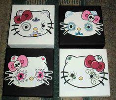 Hello kitty sugar skulls