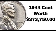 A 1944 Lincoln wheat cent can be valuable but only if it's in high grade, struck on a steel planchet or is the D/S variety. Valuable Pennies, Valuable Coins, Wheat Penny Value, Penny Values, Steel Penny, Silver Penny, Rare Coins Worth Money, Coin Worth, Error Coins