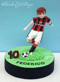 Cake football Football Birthday Cake, Soccer Birthday Parties, Soccer Party, Soccer Theme, Football Soccer, Sports Themed Cakes, Shirt Cake, Cupcakes For Boys, Cakes For Men