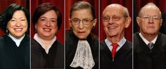 Supreme Court Legalizes Gay Marriage Nationwide -  The justices found that, under the 14th Amendment, states must issue marriage licenses to same-sex couples and recognize same-sex unions that have been legally performed in other states. Justice Anthony Kennedy delivered the majority opinion and was joined by Justices Ruth Bader Ginsburg, Elena Kagan, Stephen Breyer and Sonia Sotomayor