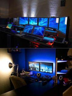 Computer Build, Computer Workstation, Computer Setup, Gaming Computer, Computer Repair, Setup Desk, Office Setup, Pc Desk, Console Pc