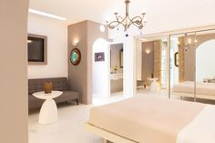 Kivotos Mykonos Hotel is a Luxury, Boutique, 5 Star hotel located in the Ornos area in Mykonos, Cyclades, Greece. Luxury Suites, Mykonos Hotels, Private Pool, Greek Islands, 5 Star Hotels, Luxury Travel, Holidays, Boutique, Suits