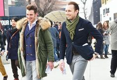 Men's street style. I died and went to fur heaven.