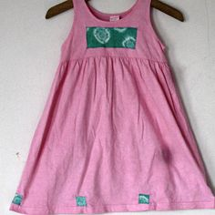 Cotton Toddler  Pink Sundress 4T Beach Tie Dye