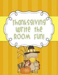 Thanksgiving Write the Room freebie!