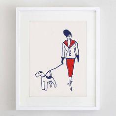 Terrier Art Print Gocco Print Dog Art Dog by ForeverFoxed, £10.00