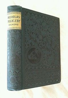 Nicholas Nickleby Charles Dickens Antique Victorian Classic Decor Teal Cover