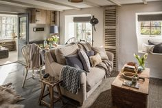 """This romantic stone cottage called """"The Poet's Hideaway"""" is a luxury moorland retreat in St Breward, a village in Cornwall, United Kingdom. Stone Cottage, Interior, Country Cottage, Open Plan Living Room, Home Decor, Country Cottage Decor, House Interior, Cottage Living Rooms, Cottage Living"""