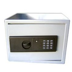 ELECTRONIC DIGITAL GUN SAFE - MEDIUM BOX TYPE - SECURE by EDMBG. $43.99. BRAND NEW - Digital Electronic GUN / BOX SAFE! This Box Safe (also called strongbox, coffer or kist) is a secure lockable box used for securing valuable objects against theft or damage. It is a traditional square design with a multi-bar secured hinged door with concealed Tamper Proof hinges.  This safe features an Electronically controlled Combination keypad and can also be opened with the inclu...