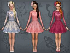 Lace short dress by Beo - Sims 3 Downloads CC Caboodle