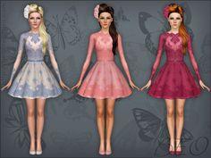 Lace short dress by Beo - Sims 3 Downloads CC Caboodle