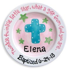 Baptism Gift for Girls  Personalized by LittleWormAndCompany, $40.00