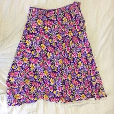 Floral mid waist skirt Light weight cotton skirt Skirts Midi