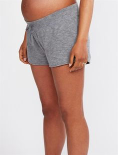 bd4a724c58db4 Under Belly Lounge Maternity Shorts, Grey French Terry, Casual Shorts, Maternity  Shorts,