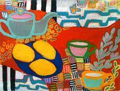 GORDON HOPKINS, Tea Time Fantasy, oil on linen, 47 x 63 inches