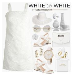"""Summer White"" by ladygroovenyc ❤ liked on Polyvore featuring J.Crew, Kate Spade, Marc Jacobs, Proenza Schouler, NYX and Dorothy Perkins"