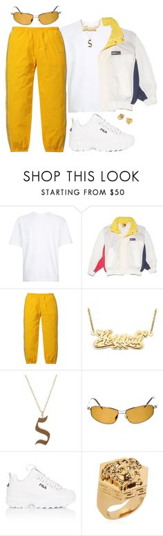 """""""Untitled #441"""" by youraveragestyle ❤ liked on Polyvore featuring 3.1 Phillip Lim, NIKE, 3M, Luna Skye, Oliver Peoples, Fila, Yves Saint Laurent, Versace, men's fashion and menswear"""
