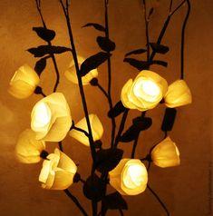 Цветы-светильники | Домохозяйка