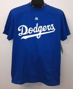 NEW/NWT Los Angeles Dodgers Majestic Wordmark T-Shirts - Official MLB #Majestic #LosAngelesDodgers