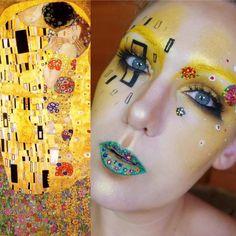 Maquiadora transforma o próprio rosto em obras de arte famosas