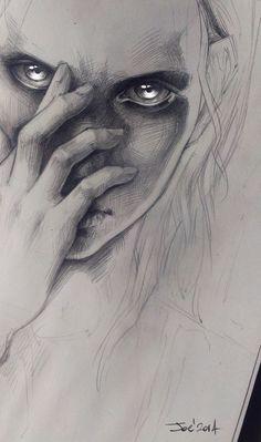 WIP. Girl by sashajoe on deviantART