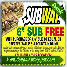 printable Subway coupons 20 off February 2015 | Local Coupons ...