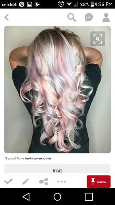 Silver, pastel hair
