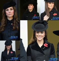 Kate at Remembrance Day services throughout the years.
