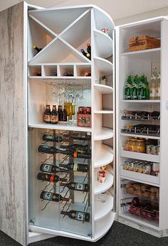 Pantry closet with the 360 pantry organizer by Lazy Lee