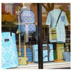 "Paisley in Williamsburg, VA took advantage of our blue & green f/w story in their window, ideal for end of summer! ""So much new @scoutbybungalow in the store ! Getting so ready for our Back to Campus event this weekend!"""