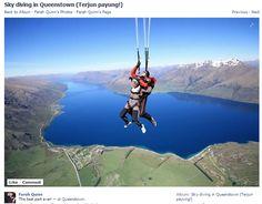Ada yang bisa menebak kata pertama yg @Quinn Farah teriakkan pada saat sky diving? #NewZealand