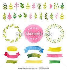 Resultado de imagem para watercolor ribbons png