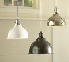 PB Classic Pendant - Metal Bell | Pottery Barn $99 2 for over island or one for over kitchen sink