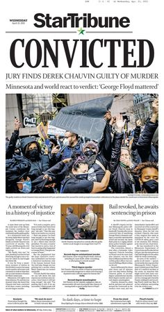 'Black lives do, in fact, matter': US newspapers react to George Floyd verdict Newspaper Front Pages, Newspaper Cover, Newspaper Headlines, Fight For Justice, Top News Stories, The Verdict, Interesting News, Today Show, Us Presidents