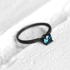 London Blue Topaz in Sterling - Oxidized or Bright / Urban Aviary