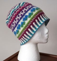 Fair Isle Love Beanie by Deja Jetmir - Winner of the 2013 CGOA crochet design contest.