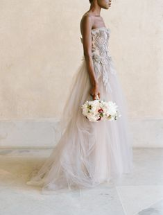 Dreamy and ethereal wedding dress, photo by Elizabeth Messina Photography
