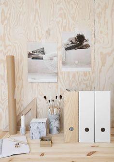plywood-werkplek