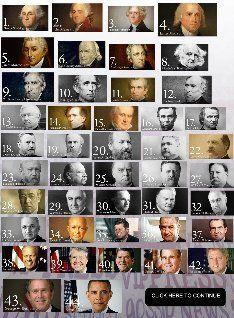 Timeline Us Presidents President List Of American