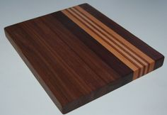 Walnut Hardwood Edge Grain Cutting Board #Handmade
