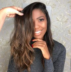 Dark Blue Hair Trend: 14 Awesome Examples to Consider in 2019 - Style My Hairs Black Hair With Highlights, Hair Highlights, Ombre Hair, Balayage Hair, Natural Hair Styles, Short Hair Styles, Dark Blue Hair, Black Hairstyles With Weave, Afro Hairstyles