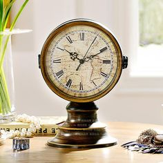 Double-sided clock design, highlighting the steady texture. Odd sound this clock, the Roman numerals design, really is full of retro charm it Glass material clock face, good gloss, easy to see the time. Sided clock face design, it is convenient to use the usual.  #clock